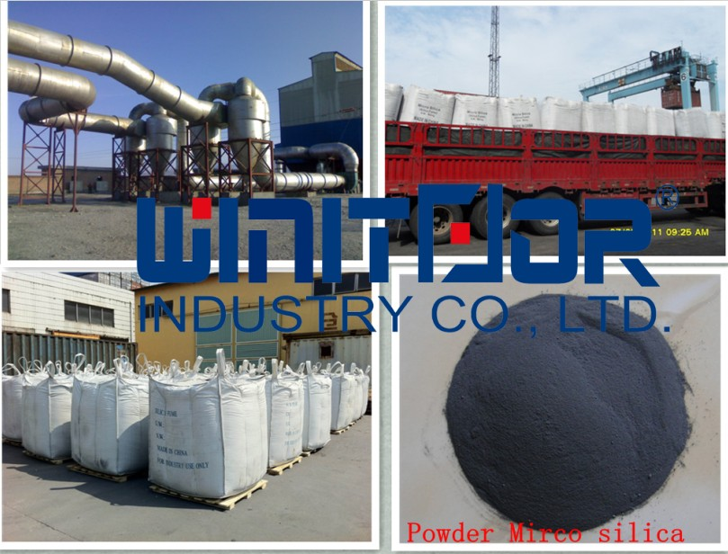 High pozzolanic concrete chemical high quality 92% SO2 densified dark grey micro silica for readymix in Mexico and Peru