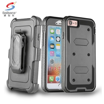 Bulk cheap 2018 trending armor tpu pc cell phone case for iphone7 360 belt clip phone case