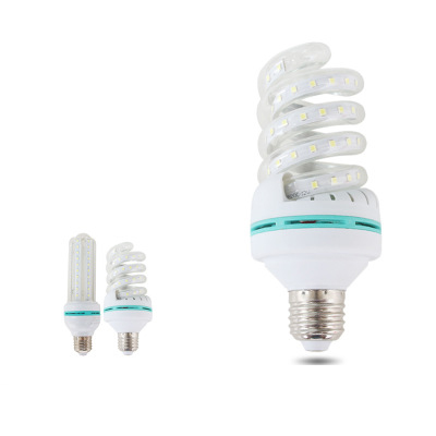 16w 24w energy saving <strong>lamp</strong> household LED 85-265vled bulb U-shaped <strong>spiral</strong> e27 corn <strong>lamp</strong>