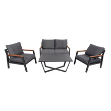 Leisure Garden Furniture Aluminium 4 Pcs Outdoor <span class=keywords><strong>Sofa</strong></span> <span class=keywords><strong>Set</strong></span>
