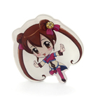Hot sale VOGRACE cheap OEM cartoon anime acrylic badges button wholesale plastic clear transparent badge pins for office