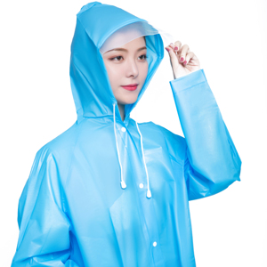 Manufacturer Wholesale EVA Poncho Portable EVA Raincoat with Hoods and Sleeves of Crius 9107