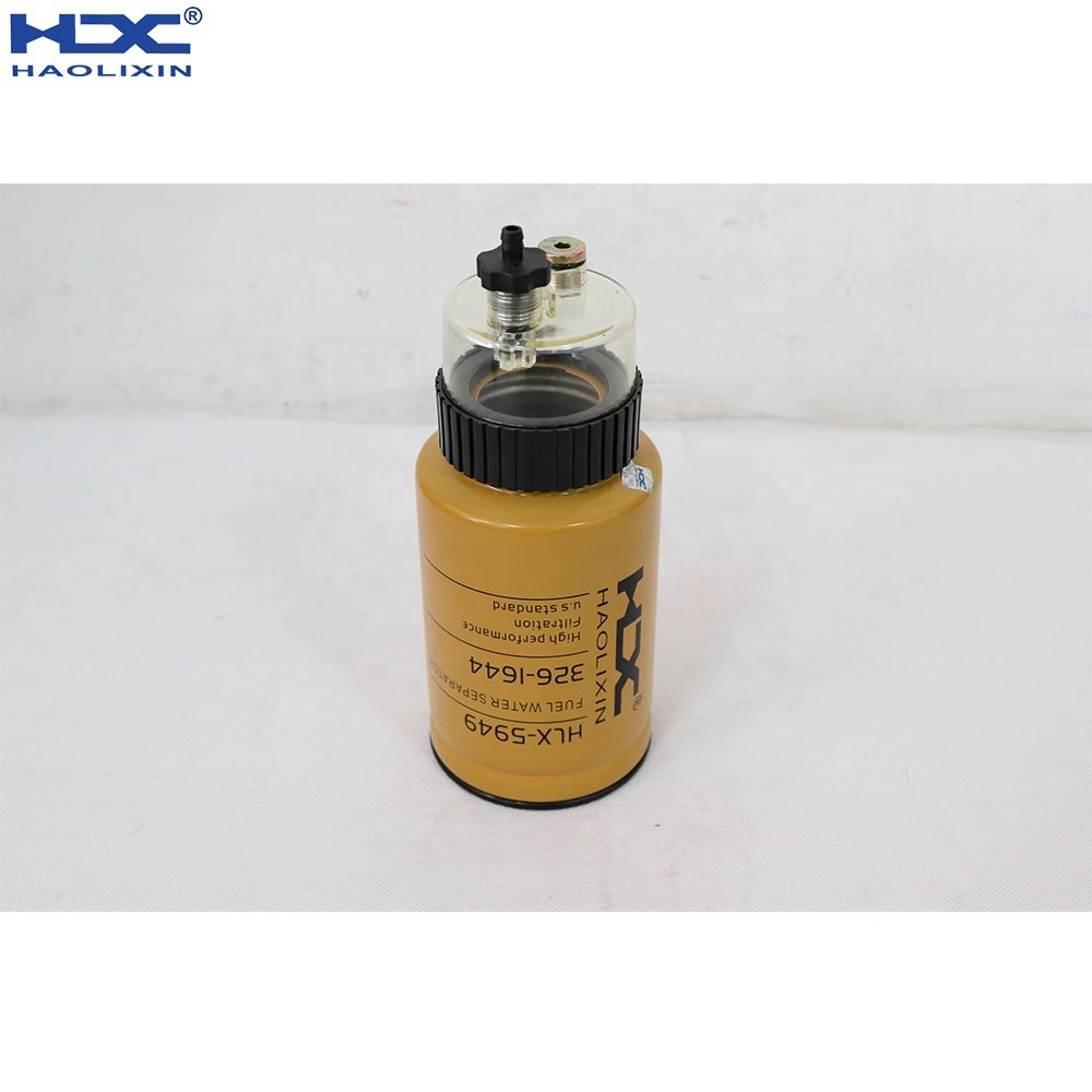 CAT excavator engine parts Fuel Water Separator <strong>filtration</strong> SN55437 1R-0770 326-1644 3261644 1R0770
