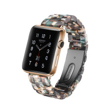 Новый спортивный ремешок для Apple Watch Series 1, 2, 3, 4, 5, прозрачный ремешок из смолы для Iwatch 38 мм, 40 мм, 42 мм, 44 мм, аксессуары для apple watch(Китай)