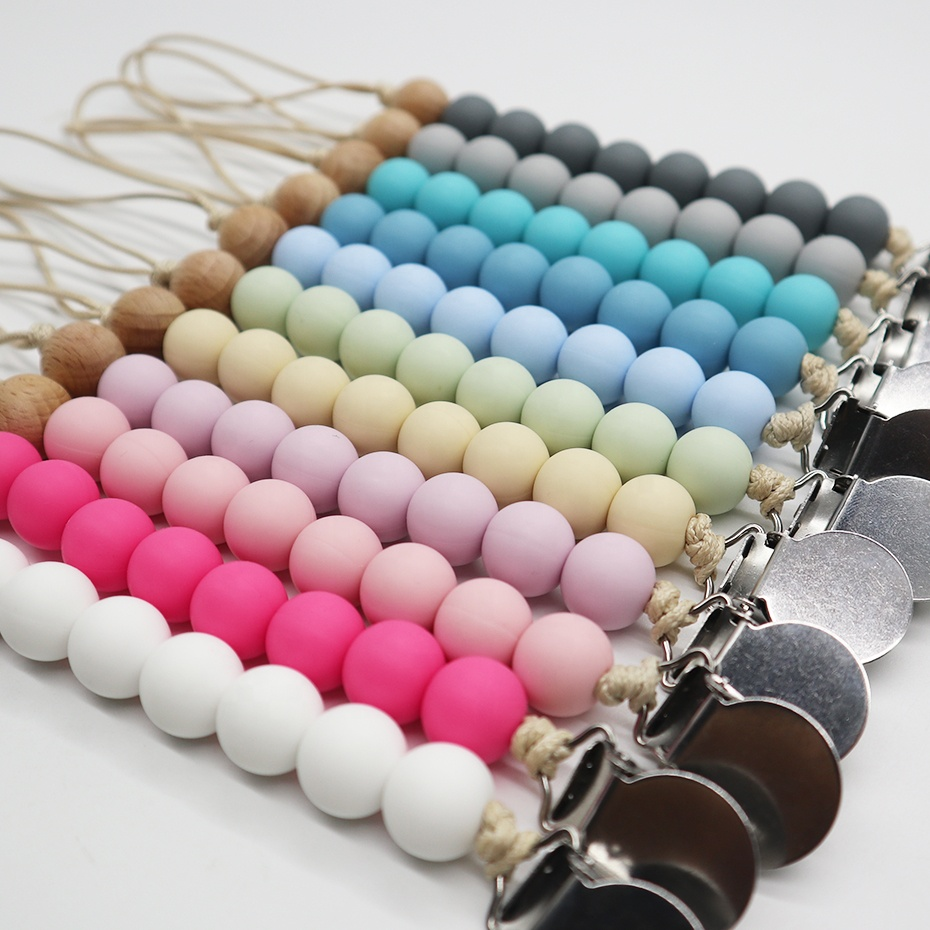 9mm 12mm 15mm 20mm BPA Free Food Grade Silicone Round Beads Baby Teething Beads Wholesale