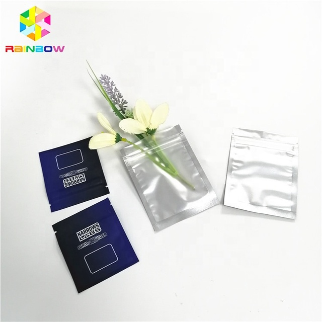 Custom Plastic Aluminum Foil Zipper Pouch Three Side Seal Car Accessories Packaging Bag Transparent Small Sample Sachet