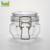 Hexahedral shape clear 120ml sealed jar with clip  lid\metal lock clamp\bamboo lid