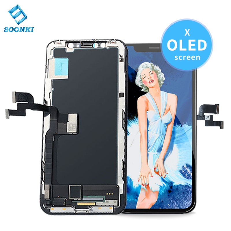 OG telefon lcd screen für iPhone 6 7 8 X XR XS MAX 11 handy lcds für iPhone X bildschirm ersatz für iPhone X oled display