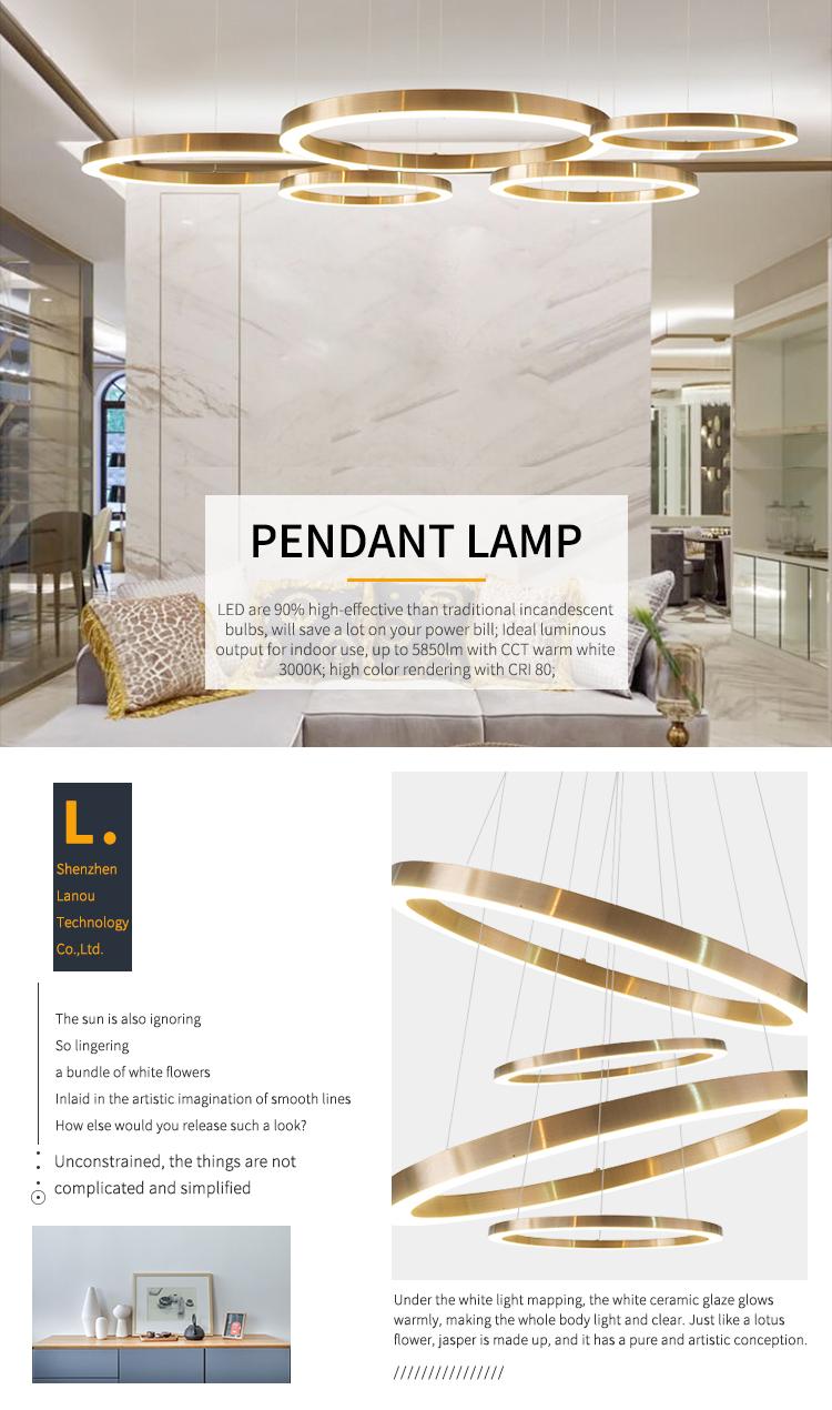 Hậu hiện đại kim loại trang trí trong nhà khách sạn sảnh DẪN chiếu sáng mặt dây ánh sáng đèn chùm