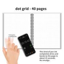 NEWYES dot grid умный многоразовый стираемый спиральный блокнот А4, бумажный блокнот, дневник, офисный, школьный, для путешественников, для рисован...(Китай)