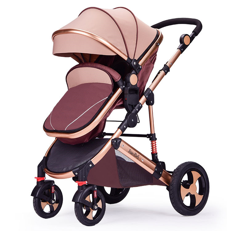 EN1888 wholesale baby stroller 3 in 1/good quality cheap baby pram/China new design black luxury baby carriage for sale