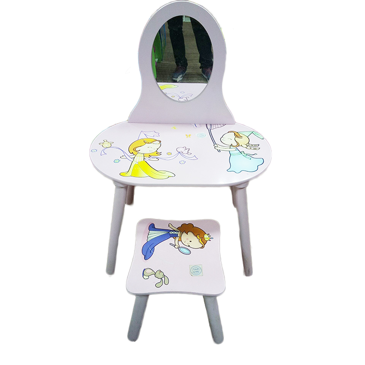 Beauty Mirrors And Accessories, Toy Sets, Fashion  Kids Dressing Table With Stool