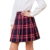 Custom design women's japan high waisted pleated cosplay costumes skirts high waist plaid girls' skirts