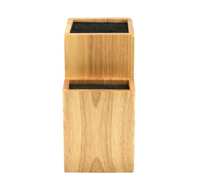 2 Tier Universal Wood Knife Block Knife Holder MSL-JJ1906182 Details 5