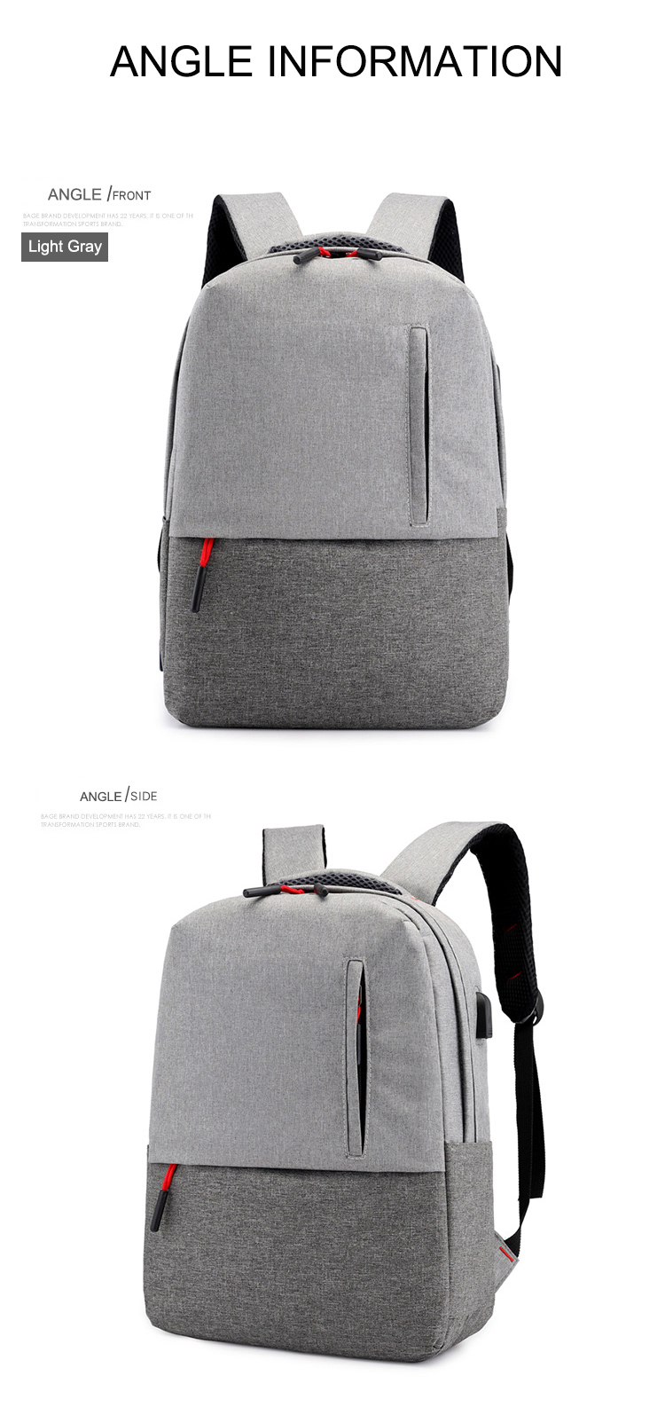 Osgoodway2 Hot Selling USB Charging Mens Backpack Bags Wholesale Travel Laptop Bags Backpack