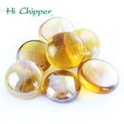 Amber colored glass gem stone for fireplace decoration