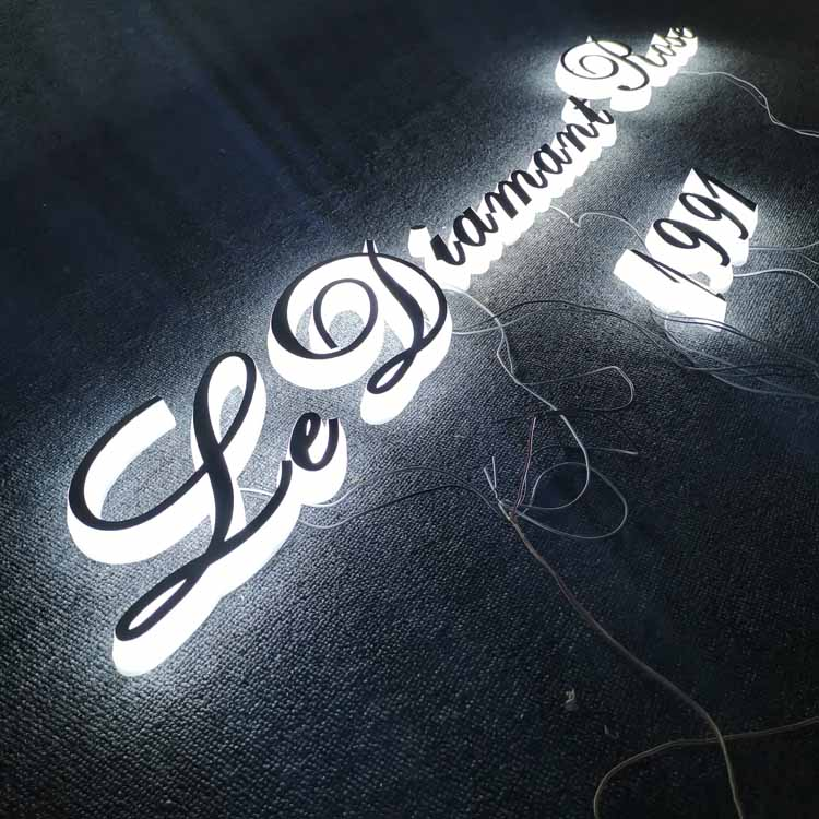 3D Lighting Acrylic Mini LED Channel Letter Sign / Bending Machine Making Stainless steel face Lighting Letters