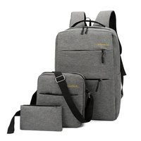 Three piece suit computer backpack bag business usb laptop school backpacks