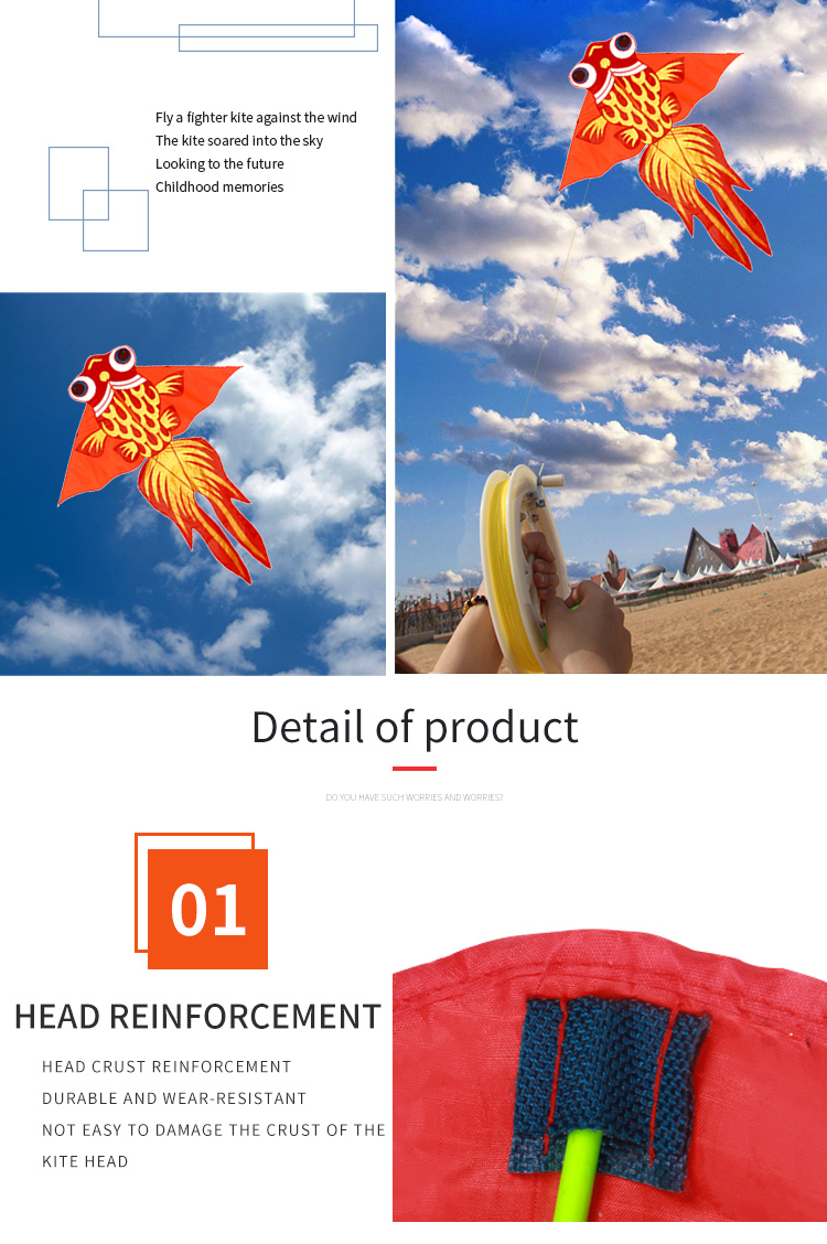 Factory direct price discount custom easy flying  cartoon fish  kite