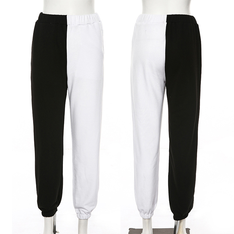 High Waist Women Multi Color Block Jogger Pants Women Korean Sweatpants Street wear