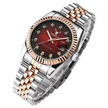 Роскошные Брендовые женские часы со стильным циферблатом, зеленый оливковый циферблат, часы с календарем из нержавеющей стали, модные квар...(Китай)