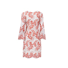 Lace Dresses Dress Women's V Neck Long Sleeve Beaded Floral Print Embroidered Lace Midi Dresses