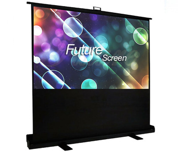 HD 72-inch 4:3, Portable Floor Pull up Home Theater Office Classroom Projection Screen with Carrying Bag