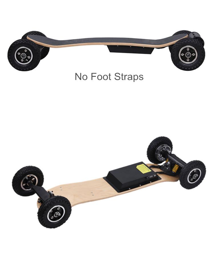 China fornecedor 200mm roda grande montanha skate elétrico scooter elétrico de quatro rodas