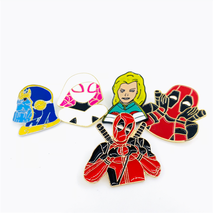 Hot selling metal bulk custom anime badge pin