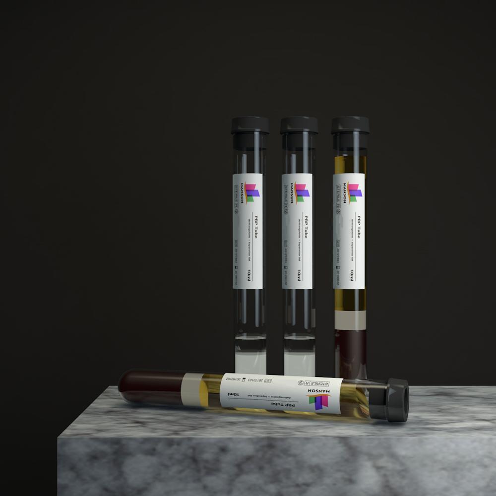 MANSON Medical Sodium Citrate Anticoagulant Tube Prp Syringe