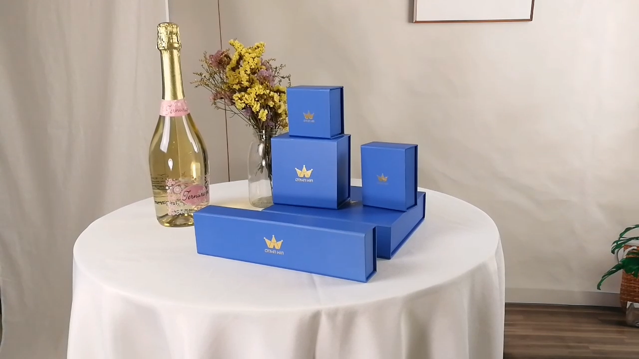 Luxury Custom Logo Paper Black Jewelry Packaging Box for Bracelet