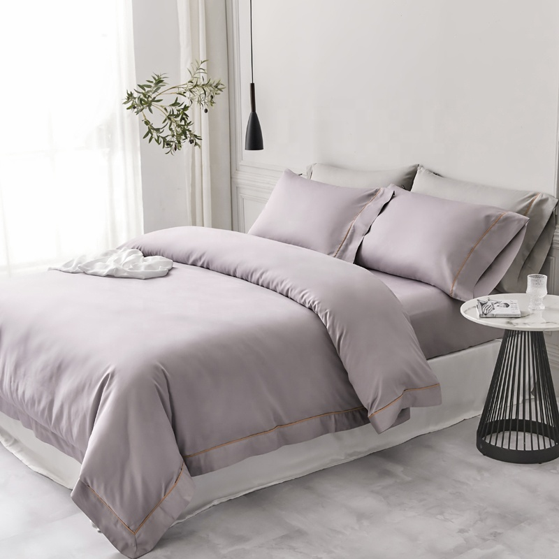 100% cotton bed sheets in solid colors north america market factory wholesale