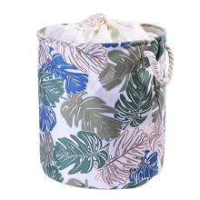 EVA холст ткань круглая складная корзина для белья грязная одежда Органайзер игрушки ящик для хранения корзина с ручками 1 шт(Китай)