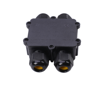 4 way 2 in 2 out  M25 cable glands outdoor ip68 waterproof junction box