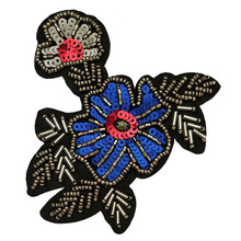 Beaded <span class=keywords><strong>Payet</strong></span> Bunga Bordiran Patch <span class=keywords><strong>Desain</strong></span>