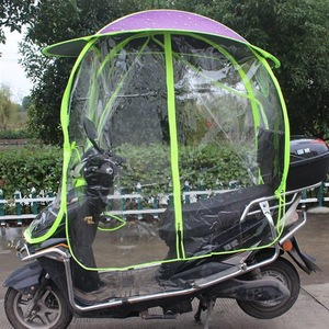 Full covered electric bike umbrella outdoor windproof sunshade cover motorcycle umbrella electric scooter umbrella for rain