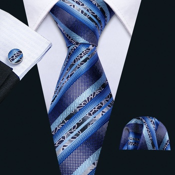 China Suppliers Blue Silk Striped Tie Sets Mens Suits Accessories Woven  Necktie - Buy Amazon Mens Ties,Silk Tie Gift Set,Silk Necktie Jacquard  Product on Alibaba.com