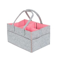 Baby Diaper Organizer Diaper Storage Handbag Baby Felt Travel Storage Bag