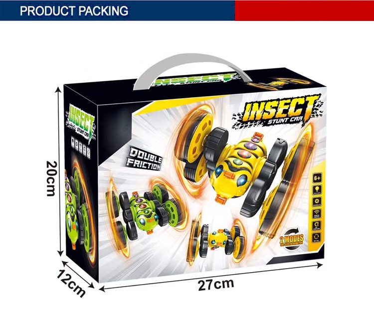electric toys 2.4G double side insect wholesale rc stunt cars