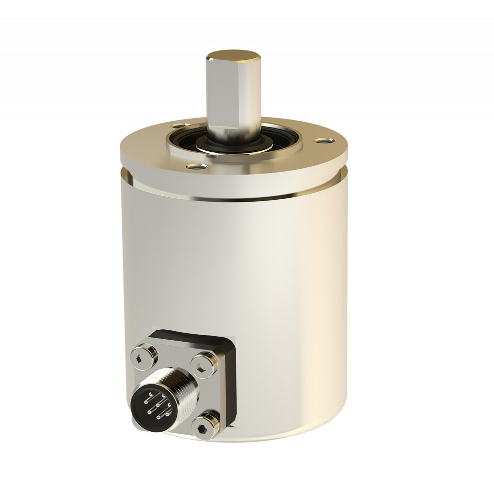 Rotary encoder TRA50 - Absolute rotary encoder with Hall elements and absolute multiturn gearbox, with shaft sealing ring