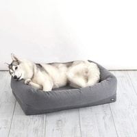 Plush Orthopedic Foam Dog Bed Memort Foam Pet bed with Machine Washable Removable Cover