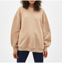 Yhao Gebreide Casual Sweater <span class=keywords><strong>Vrouwen</strong></span> O Hals Lange Mouw Khaki Oversized Hoodies Losse Jumper Sweatshirts