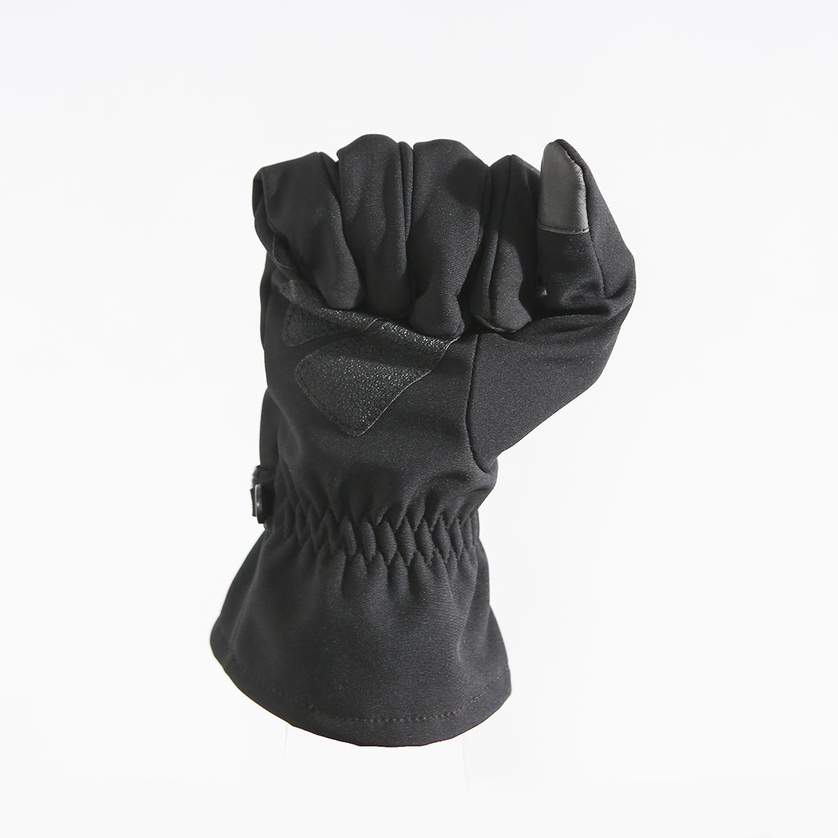 manufacturers fashion winter gloves black custom logo long mittens warm gloves