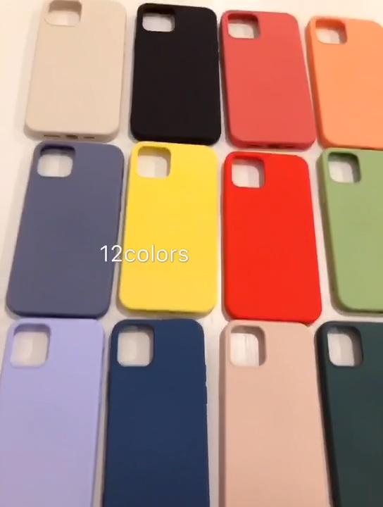 ซิลิโคนกรณีผ้าไมโครไฟเบอร์ผ้าซับเบาะสำหรับ2020 iPhone 12สำหรับ Iphone 11, Pro, Pro Max ปกหลังโทรศัพท์กรณี