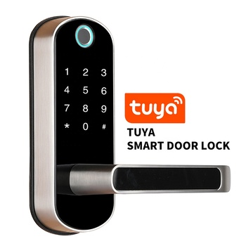 Tuya Smart Wifi Mobile Phone Fingerprint Touchscreen external Door Lock