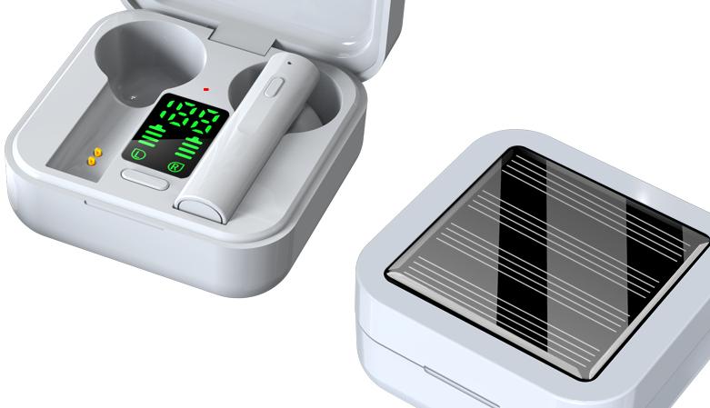 Solar charging True Wireless TWS Earbuds  Air6 Plus Blue tooth Earphone Headphone For Xiaomi Redmi Mi Air2 Air2S Air2SE