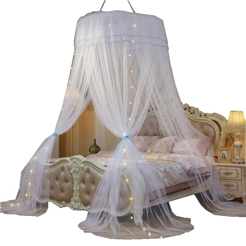 Moustiquaire de couchage avec dentelle ronde pour chambre d/'enfants rose