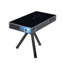 Grosir Smart DLP P8 <span class=keywords><strong>Saku</strong></span> <span class=keywords><strong>Mini</strong></span> <span class=keywords><strong>Proyektor</strong></span> Android 7.1 OS Quad Core Dual Band WiFi Home Projector
