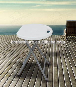 Dia.33cm Hot Sale Outdoor Popular Stackable HDPE Plastic Folding Picnic Dining Table and chairs