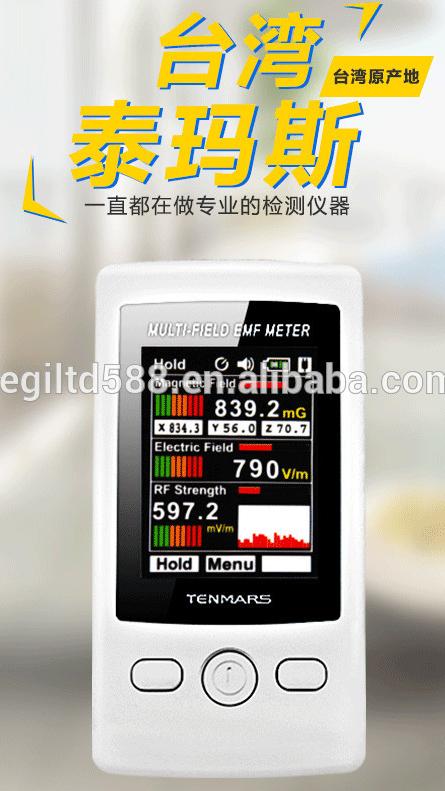 Tenmars TM-190 3 in 1 çok alanlı EMF metre dijital elektromanyetik radyasyon dedektörü